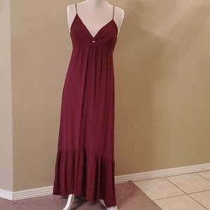 Burgandy Maxi Dress